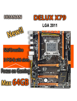Huanan Golden Deluxe X79 Gaming Motherboard Intel Lga 2011 Atx Support 4 X 16 Gb 64 Gb Memory Pci E X16 7.1 Sound Track Crossfire by Huanan