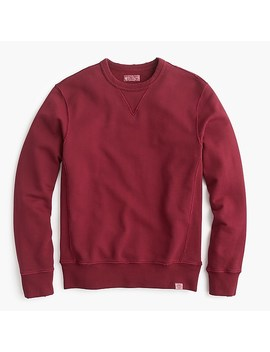 Wallace & Barnes Garment Dyed Crewneck Sweatshirt by J.Crew