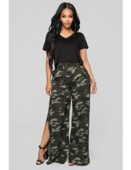Snip Snaps Camo Pants   Olive/Black by Fashion Nova