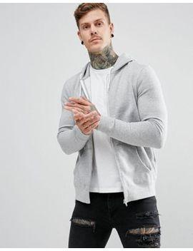 New Look Zip Through Hoodie In Grey by New Look