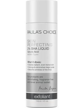 Paulas Choice  Skin Perfecting 2 Percents Bha Liquid Salicylic Acid Exfoliant  Facial Exfoliant For Blackheads, Enlarged Pores, Wrinkles & Fine Lines, 4... by Paula's Choice