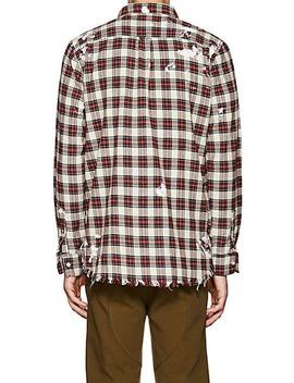 Distressed Plaid Cotton Shirt by Nsf