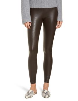 Control Faux Leather Leggings by Commando