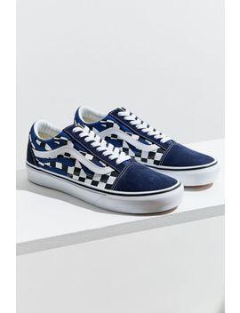 Vans Old Skool Checkerboard Flame Sneaker by Vans