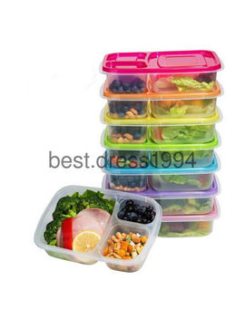 Meal Prep Containers 3 Compartment Lunch Boxes Food Storage With Lids Set Of 1 6 by Ebay Seller