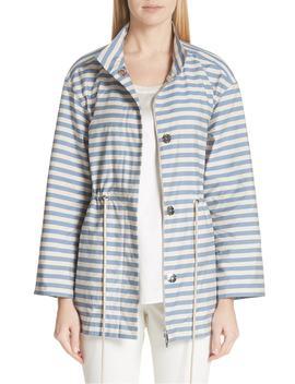 Jayna Vitality Stripe Jacket by Lafayette 148 New York