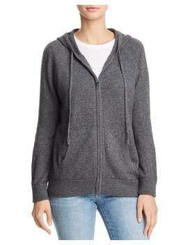 Cashmere Zip Front Hoodie   100 Percents Exclusive by Aqua Cashmere