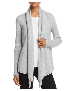 Drape Front Cashmere Cardigan   100 Percents Exclusive  by Aqua