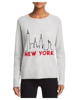 New York Skyline Cashmere Sweater   100 Percents Exclusive  by Aqua