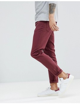 Ldn Dnm Skinny Jeans In Burgundy by Jeans