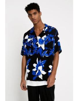 Edwin Garage Floral Short Sleeve Blue Shirt by Edwin