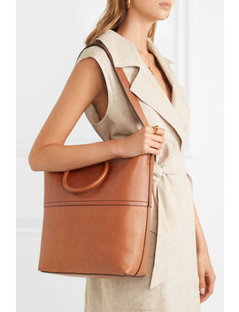 Hoop Leather Tote by Theory