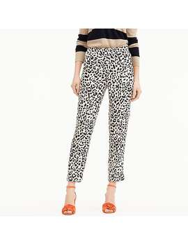 Tall Easy Pant In Leopard by J.Crew