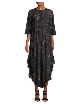Spirit Of The Wild Beaded Illusion Maxi Dress by Free People