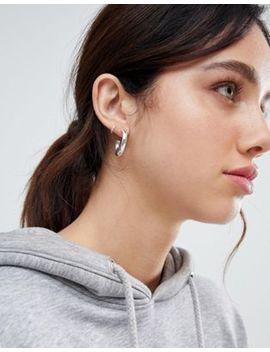 Weekday Thick Hoop Earrings In Silver by Weekday