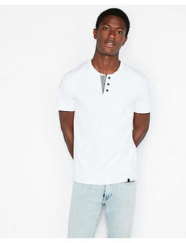 Snap Front Signature Henley by Express