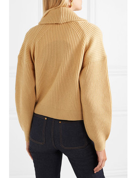Cropped Ribbed Wool And Cashmere Blend Cardigan by Vince