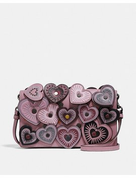 Foldover Crossbody Clutch With Hearts by Coach