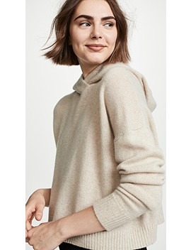 Cashmere Crop Hoodie by Theory