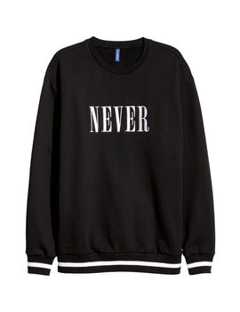 Sudadera Con Texto Bordado by H&M