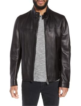 Nerous Leather Jacket by Boss