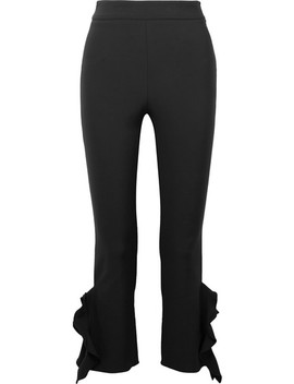 William Cropped Ruffle Trimmed Stretch Cady Skinny Pants by Opening Ceremony
