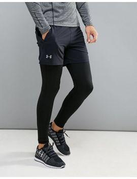 Under Armour Running Speedpocket 5 Shorts In Black 1295569 001 by Under Armour