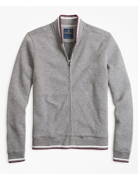 Zip Front Knit Jacket by Brooks Brothers