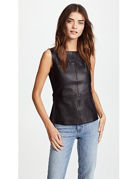 Sierra Leather Top by Mackage