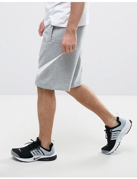 Nike Jersey Shorts With Large Logo In Grey 843520 063 by Nike