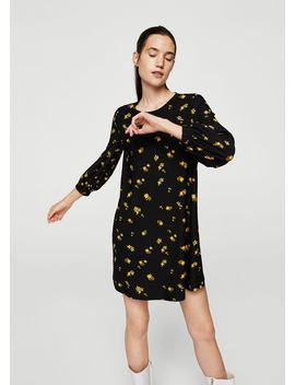 Robe Manches Froncées by Mango