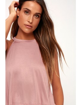 Carefree Cruising Mauve Pink Tank Top by Lulu's