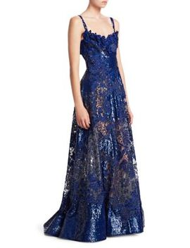 Embroidered & Sequined Gown by Elie Saab