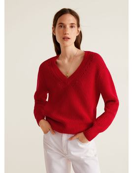 Openwork Cotton Sweater by Mango