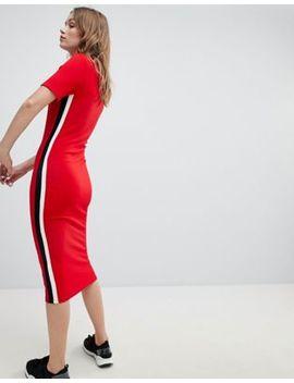 Bershka Tshirt Jersey Dress In Red by Bershka