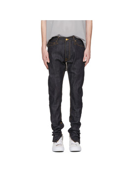 Indigo Selvedge Zip Jeans by Fear Of God
