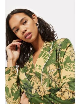 Petite Tropical Print Pyjama Jacket by Topshop