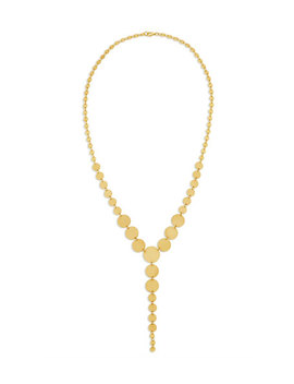 14k Multi Disc Lariat Necklace by Lana