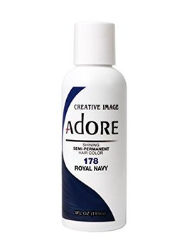 Adore Semi Permanent Haircolor #178 Royal Navy 4 Ounce (118ml) by Adore