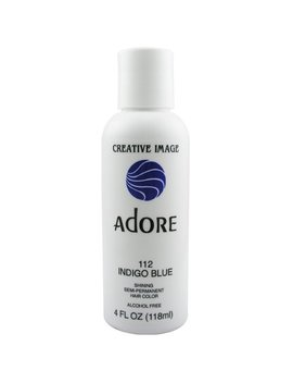 Adore Semi Permanent Haircolor #112 Indigo Blue 4 Ounce (118ml) by Adore