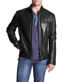 Genuine Leather Jacket For Men Motorcycle Slim Fit Lambskin Leather Jackets by Leather4u