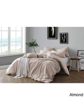 All Natural Prewashed Yarn Dye 100 Percents Cotton Premium Wrinkled Look Chambray Duvet Cover Set by Swift Home