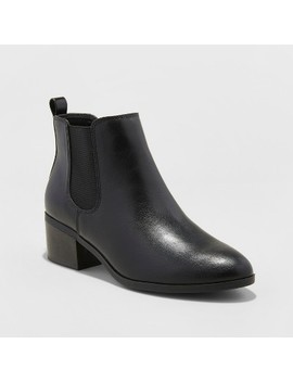 Women's Ellie Chelsea Boots   A New Day™ Black by A New Day™
