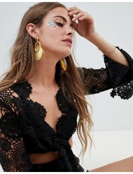 Missguided Tassel Hoop Earrings by Missguided