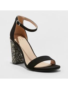 Women's Ema Glitter High Block Heel Pump Sandal   A New Day™ by A New Day™