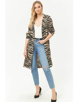 Tiger Print Duster Jacket by Forever 21