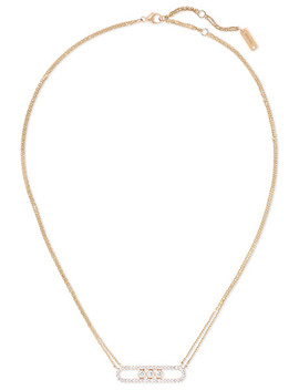 Move 18 Karat Rose Gold Diamond Necklace by Messika