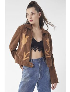Uo Birds Of A Feather Suede Gas Jacket by Urban Outfitters