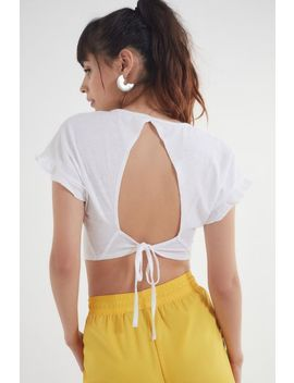 Truly Madly Deeply Tie Back Flutter Top by Truly Madly Deeply
