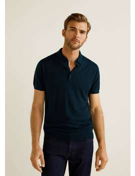 Knit Silk Polo Shirt by Mango